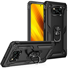 For Xiaomi POCO X3 NFC POCO F2 Pro Cases Shockproof Armor Case Ring Stand Bumper Phone  Back Cover For Xiaomi Pocophone X3 NFC