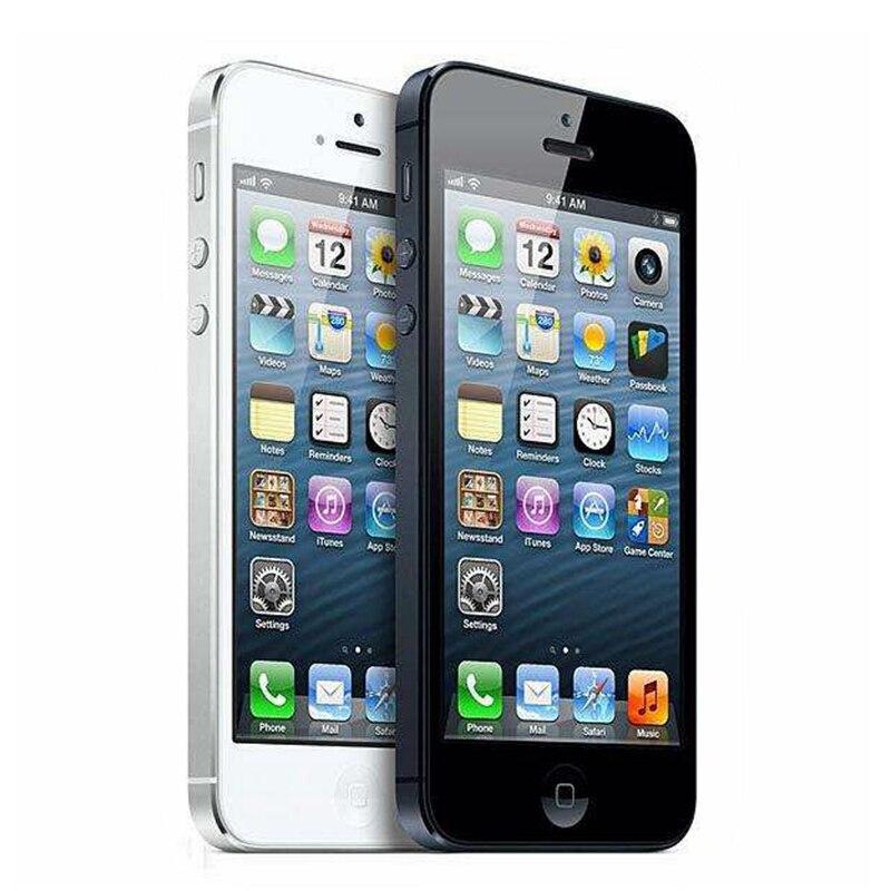 Оригинальный iPhone 5 разблокированный мобильный телефон 16 Гб/32 ГБ/64 Гб ПЗУ двухъядерный 3g 4,0 дюйма 8MP камера iCloud wifi gps IOS OS сотовые телефоны - 2