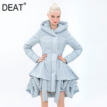 Down Jacket Women 2021 New Celebrity Temperament Creative Petal Design Winter Coat Medium