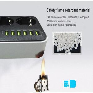 Image 4 - אלקטרוני כוח רצועת שקע האיחוד האירופי Plug 3 יציאות AC 6 USB טעינת יציאות עומס יתר הגנה הארכת 1.5M כבל רשת מסנן
