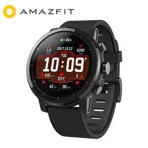 Image 1 - Huami Amazfit 2 Amazfit Stratos Tempo 2 Smart Uhr Männer mit GPS Uhren PPG Herz Rate Monitor 5ATM Wasserdicht