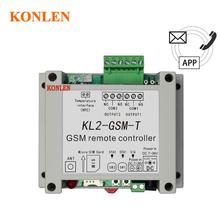KONLEN GSM 2 Way Relay Controller SMS Call Temperature Sensor Remote Control Smart Home Automation SIM Switch Garage Door Opener