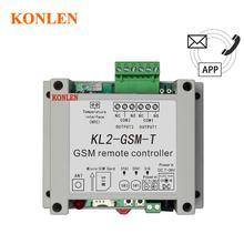 Konlen controle relé gsm 2 vias, sensor de temperatura sms de chamada controle remoto inteligente automação residencial interruptor sim abridor de porta de garagem