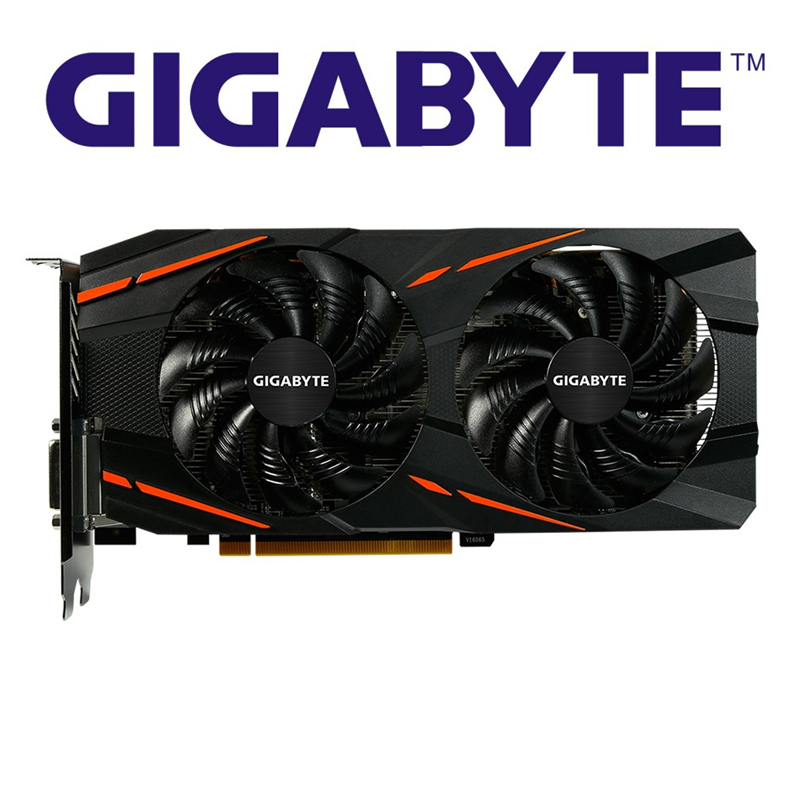 GIGABYTE RX570 4GB Graphics Cards Game Card GPU Radeon RX 570 Gaming 4G Video Cards For AMD Screen Map HDMI PCI-E X16 RX570 Used
