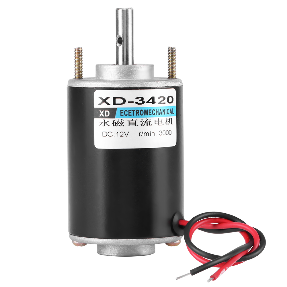 1PCS DC12V//3000RPM 24V//6000RPM 30W New Mini Magnetic High Speed Motor CW//CCW
