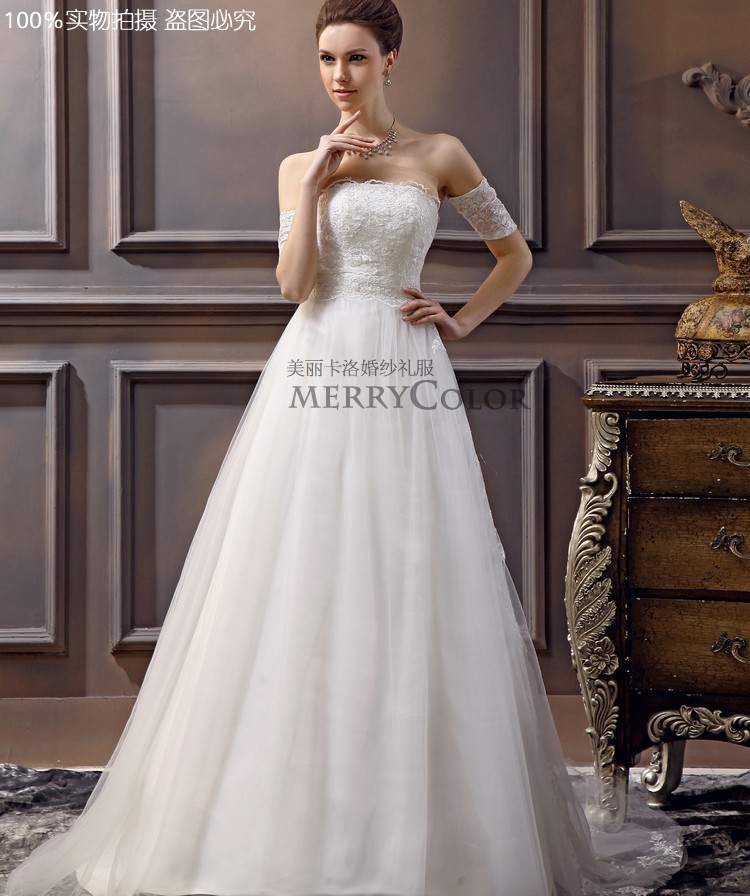 Royal Ulysse Hand Made Free Shipping 2016 New Style Sexy Bride Wedding Custom Size Beadwork Chiffon Wedding Dress
