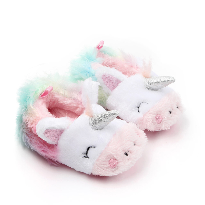 Newborn Baby Boys Girl Shoes First Walkers Anti-Slip Winter Warm Toddler Foot Booties Slippers Soft Sole Baby Crib Shoes