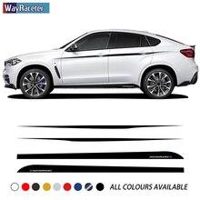 Стикер для автомобильной двери, боковая полоска, юбка, производительность M, верхняя полоска, поясная линия, Набор наклеек для BMW X6 M F16 F86 G06, ак...