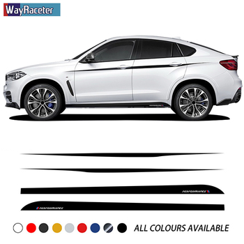 Car Door Side Stripes Skirt Sticker M Performance Upper Stripes Waist Line Body Kit Decal For BMW X6 M F16 F86 G06 Accessories image