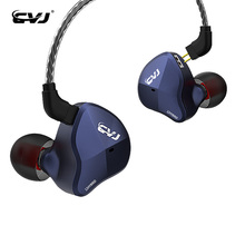 CVJ CSN 1DD+5BA Hybrid Driver earphone Sport Running Earbuds with 0 75mm gold plated cable KZ ZS10 PRO BL05 BL03 cheap 音佑 Hybrid technology Wired 108±3dBdB 1 25mm For Internet Bar Monitor Headphone for Video Game Common Headphone For Mobile Phone