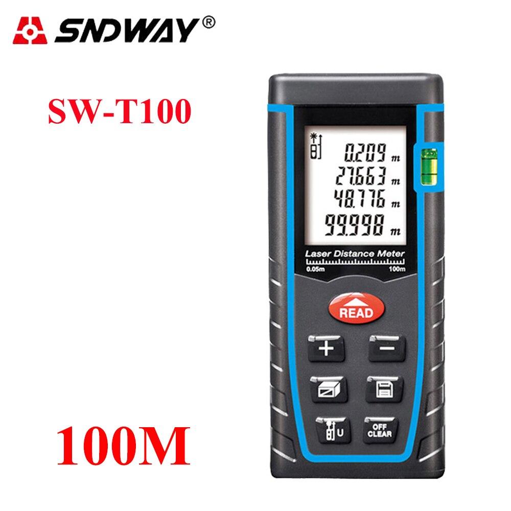 SNDWAY 100 M/80/60/40 M Laser-distanzmessgerät Laser-entfernungsmesser trena laser wasserwaage palette finder Gebäude maßband tester