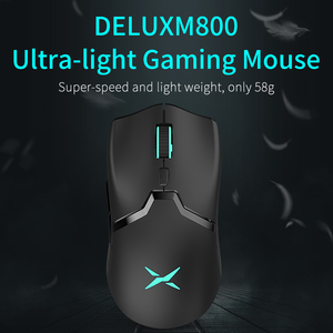 Image 2 - Delux M800 RGB 2.4Ghz Wireless + Wired Gaming Mouse Dual Mode 16000 DPI Lightweight Ergonomic 1000Hz Mice with Soft rope Cable