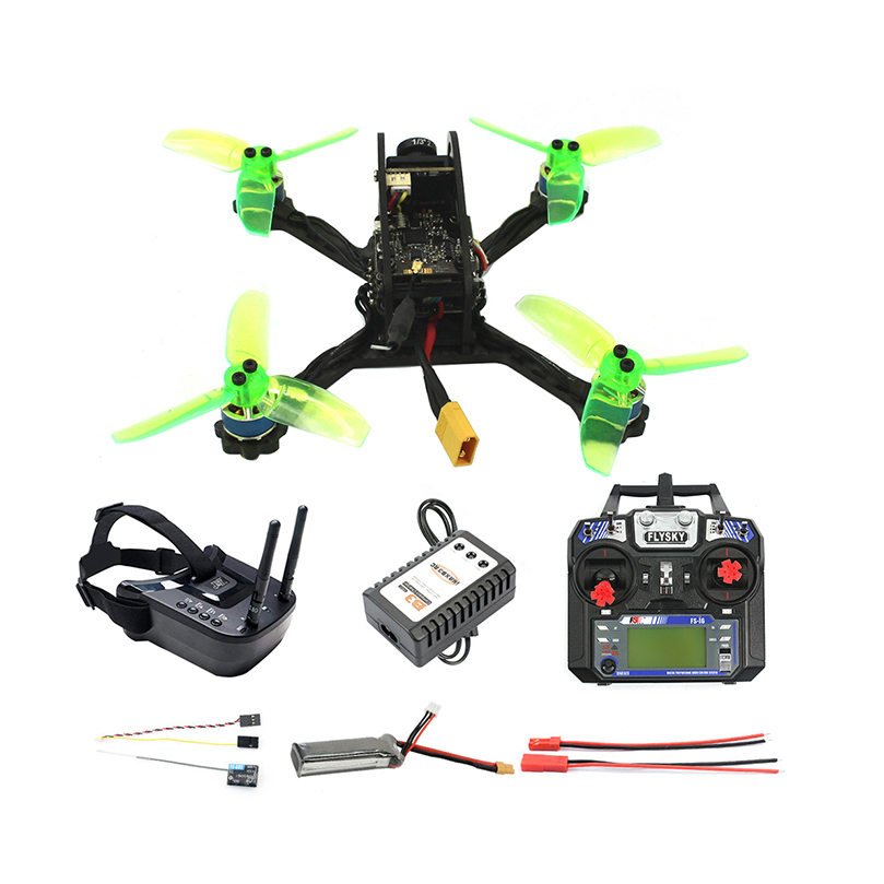135mm RC <font><b>FPV</b></font> Racing <font><b>Drone</b></font> Quadcopter Mini F3 OSD 2S 10A 7500KV <font><b>Brushless</b></font> 2.4G 6ch BNF RTF Combo Set 1200TVL HD Camera Goggles image