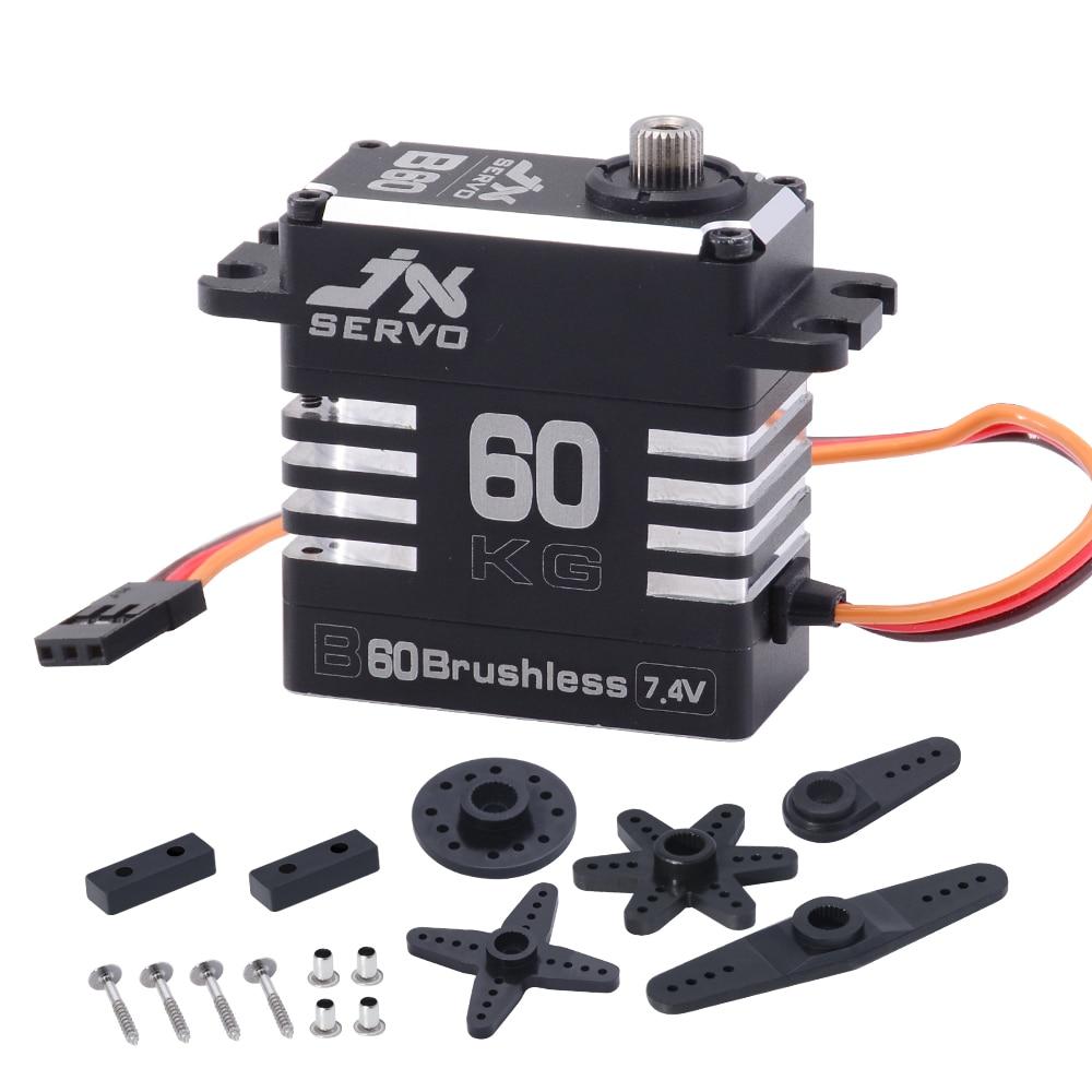 JX Servo B60 62KG Full Metal Brushless High Quality Servo For RC Hobby UAV Robotics And Industrial Applications