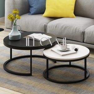 Стальной деревянный журнальный столик в скандинавском стиле для дома, креативная маленькая квартира, простая гостиная, комбинированная бо...