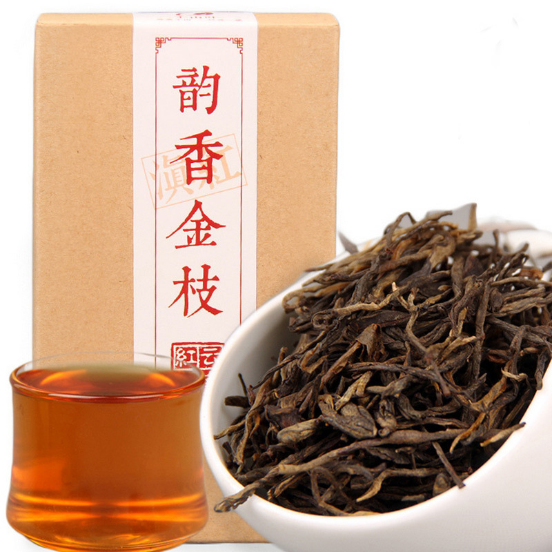 China Black Tea Yunnan Fengqing Dian Hong Premium Rhyme Pine Needle DianHong Red Tea Beauty Slimming For Weight Lose Tea 90g/Box