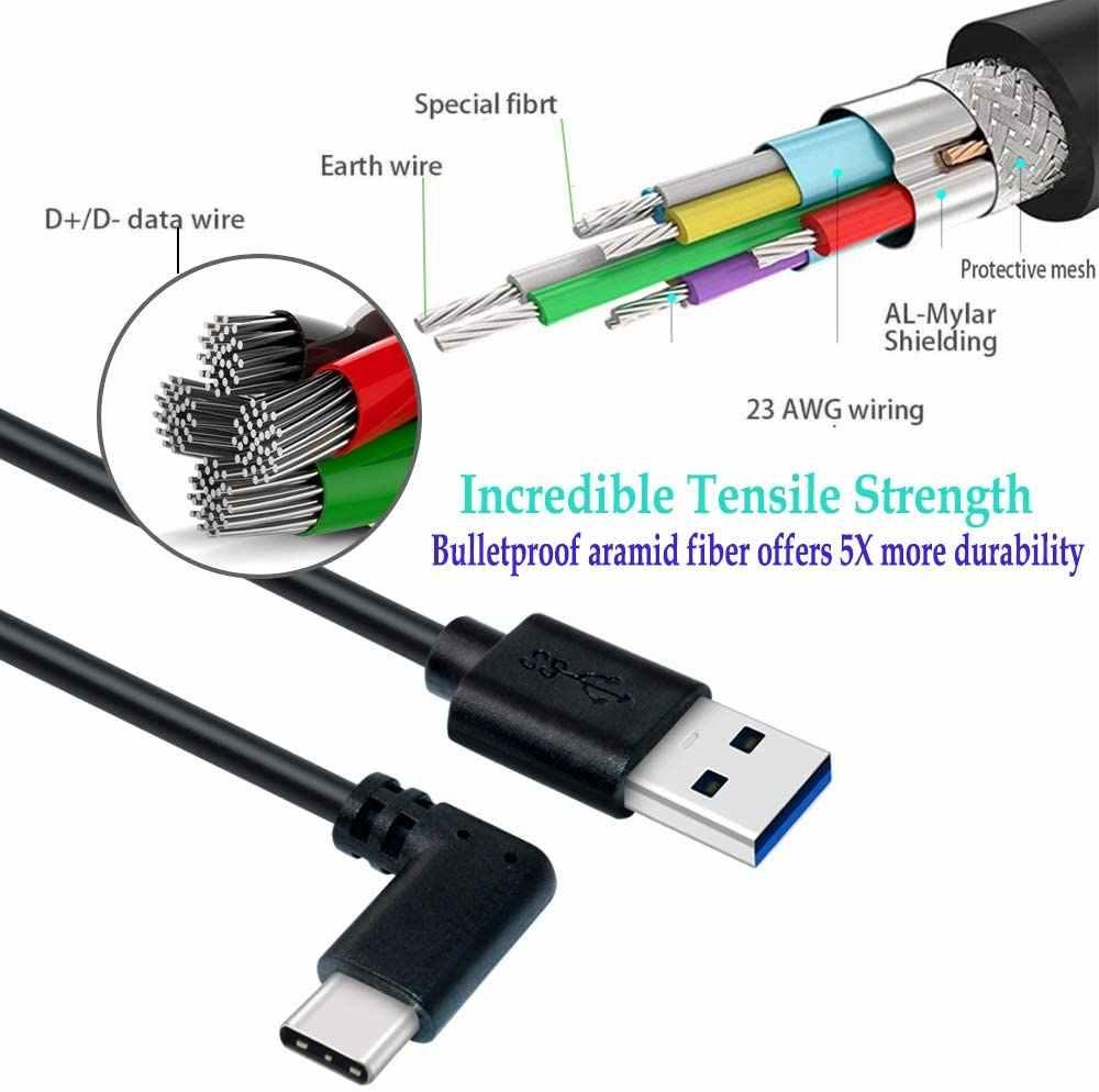 5M/3M yüksek hızlı USB 3.1 tip C veri aktarım kablosu Oculus görev bağlantı VR kulaklık hızlı şarj USB-A tipi C kablo adaptörü