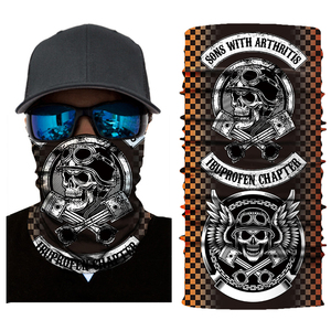 Ghost Mask Motorcycle Face Mas