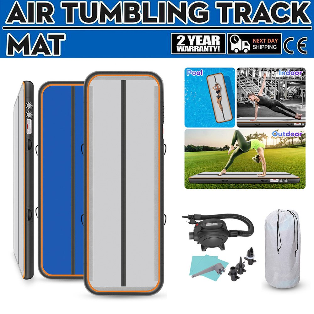 0.2m Gymnastics Mats Thick 4m/5m/6m Tumble Track Gymnastics Airtrack Mat With Electric Air Pump For Adults Home Use/Tranning