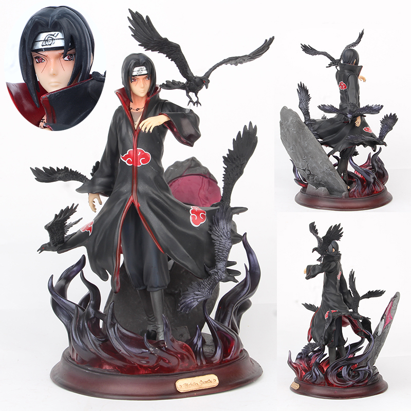 26cm Naruto Figure Action Model Shippuden  Uchiha Itachi Version Statue Hand-Made Pvc  Figure Boy Toys Gift