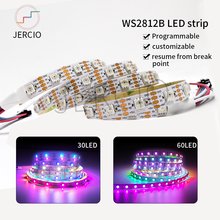 JERCIO WS2813 LED Strip 30/60/144LEDs/piexl/m ;SMART SK6812 IC Break-point resume Double Data Line individual addressable DC5V