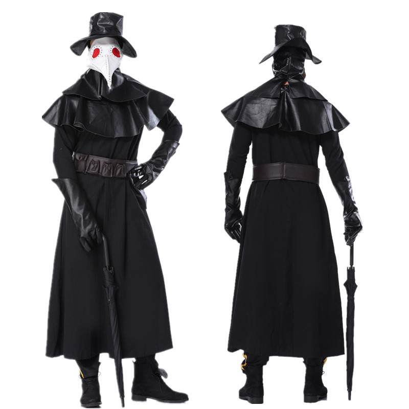 2020 Halloween Cosplay Plague Doctor Costume Halloween Party Hero Dungeon Stage Performance Clothing Christmas Costume For Men