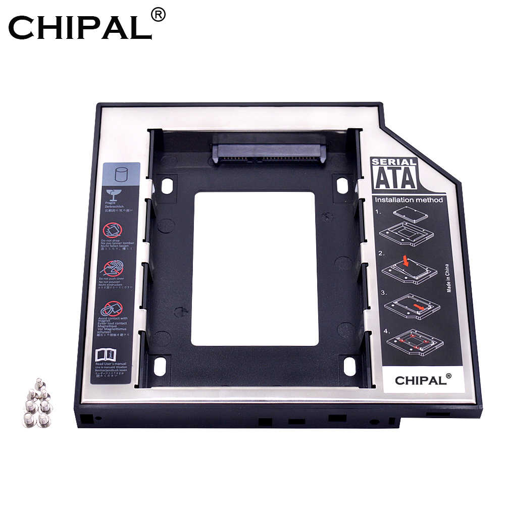"CHIPAL Universal aluminium 2nd HDD Caddy 12.7mm SATA 3.0 dla 2.5 ""SSD sterownik dysku twardego obudowa DVD CD-ROM Adapter Optibay"