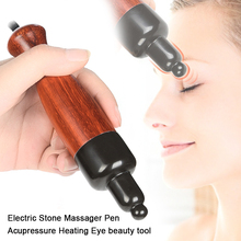 Electric Stone Massager Pen Acupressure Heating Stimulator Acupoint Eye Pen Beauty Bar Face Lifting Wrinkles Removal Thin Face