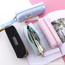 Pencil Case Canvas Pencil Case School Stationery Pencil Case MBD028-035-7 Office Pencil Case Large Capacity Pencil Case Wallet iridescence clear pencil case
