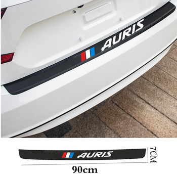 Auto Rear Bumper leather Stickers For Carbon Fiber Protector Car Trunk Guard Plate Film For Toyota Auris Car Rear Bumper Trunk car body kits plastic rear bumper foot plate car sticker for toyota vios 2017