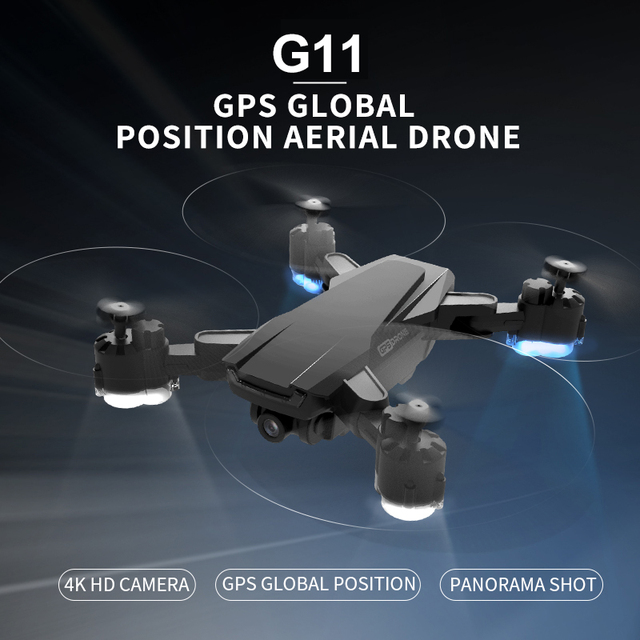 HGIYI G11 GPS RC Drone 4K HD Camera Quadcopter Optical Flow WIFI 4