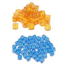 100x Набор кубиков 6 сторонняя для рулон ролевая игра «Подземелья и Драконы DND RPG MTG