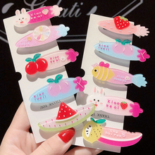 Fruit Animal Letter Baby Hair Clips Jelly Color Hairpins For Girls Duckbill Clip Strawberry bb Barrette Accessories Newest