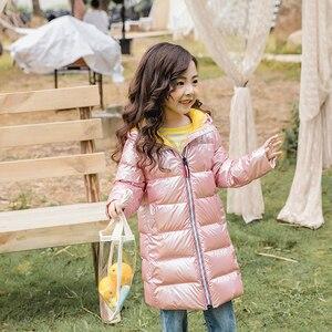 Image 5 - SLAIXIU חורף מעיל בנות סלעית עבה ילדי מעילי ילדי של רוכסן Windproof להאריך בני תעלת מעיל