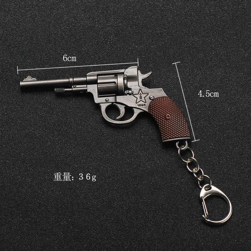 2019 nowy PUBG FPS Game Player nieznane tereny bojowe 3D brelok broń pistolet samochód rewolwer jeść kurczaka gry mężczyźni kobiety brelok do kluczyków samochodowych