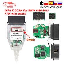 INPA K DCAN BMW FT232RL/RQ OBD OBD2 차량 진단 도구 케이블 INPA K + DCAN K 라인 K 라인 BMW E39 ICOM 스캐너 어댑터
