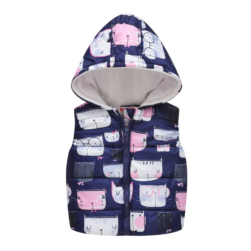 Baby Boys Girls Vest Hooded Jacket Kids Hooded Christmas Costume Clothes Children Autumn Warm Winter Waistcoat Outerwear Outfits 6