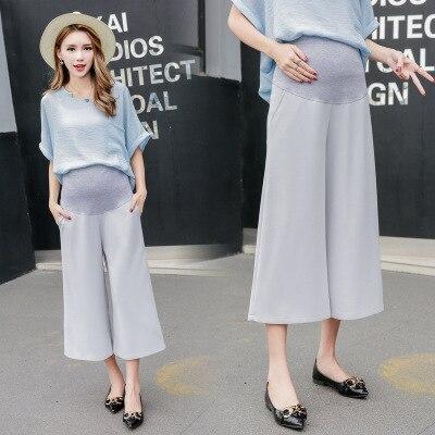 Брюки для беременных весна-лето новая стильная одежда для мам повседневные брюки для беременных поддерживающие живот свободные широкие шт...