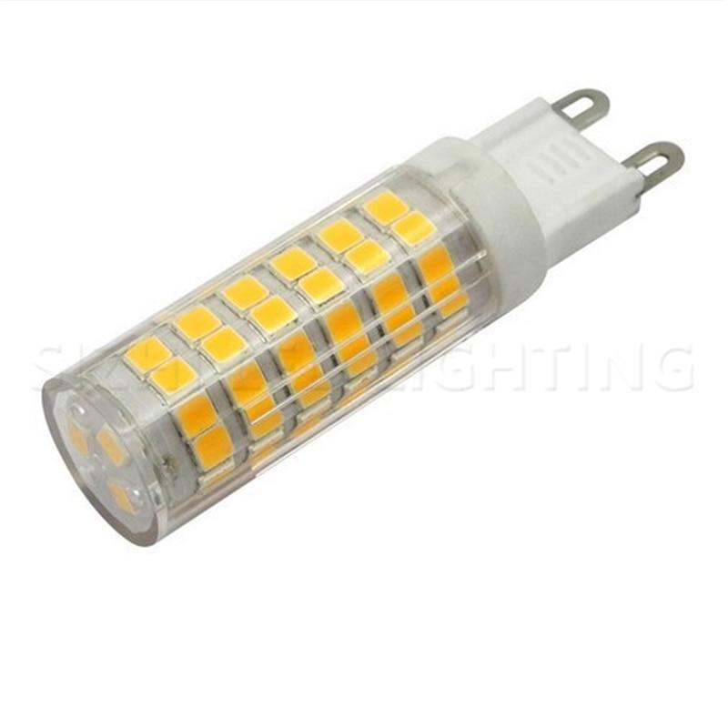 Lâmpada de led super brilhante g9, ac220v, 5w, 7w, 9w, 12w, 15w, 18w, cerâmica, smd2835 lâmpada led quente/fria holofote branco substituição luz de halogênio