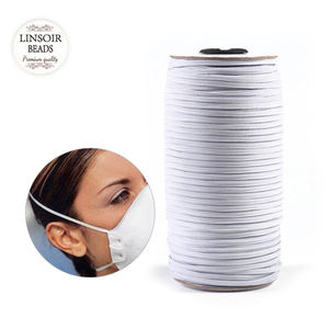 Linsoir 5/10yards 3/4/5/6/8/10/12mm Sewing Mask Elastic Flat Band Mask Rope Rubber Band Waist String Mask DIY Accessories(China)