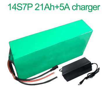 With 5A charger 52V 21Ah 14S7P 18650 Li-ion Battery Pack E-Bike Ebike electric bicycle 280*140*70mm