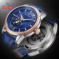 Seagull деловые часы женские механические часы синие простые 30 метров водонепроницаемые Кожаные Деловые женские часы 819.32.1014 KL39