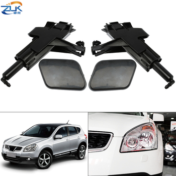 ZUK Headlight Washer Nozzle Headlamp Water Sprayer Jet / Cover Cap Shell Unpainted For Nissan For Qashqai J10 2006-2015 image