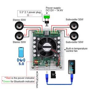 Image 3 - AIYIMA بلوتوث 5.0 TDA7850H مكبر للصوت 50Wx4 فئة AB 4 قناة الناتج سيارة مكبر للصوت المجلس للصوت مكبرات صوت لتقوم بها بنفسك