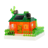 Diy funny education assembled miniature solar music house green energy experiments building model kit for kids science toys