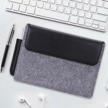 """Tablet kol çantası kılıf kılıfı için olağanüstü 10.3 e okuyucu moda çanta yün keçe kol çantası dikkat çekici 10.3 """"Funda + kalem"""