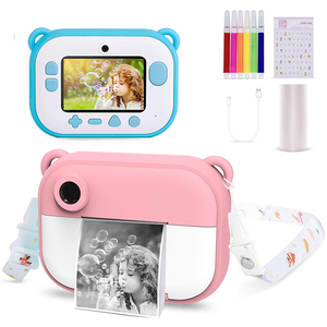 Kids Camera 1080 HP Instant Thermal Printer Camera Wifi LED Flash 2.4 inch IPS Screen Children Gift DIY Sticker Print Paper