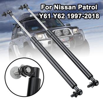 1 para 41cm stali nierdzewnej klapa maski siłowniki siłowniki pneumatyczne barów zastąpić dla Nissan Patrol Y61 Y62 1997-2018 obsługuje rod tanie i dobre opinie Front Other Steel 500g