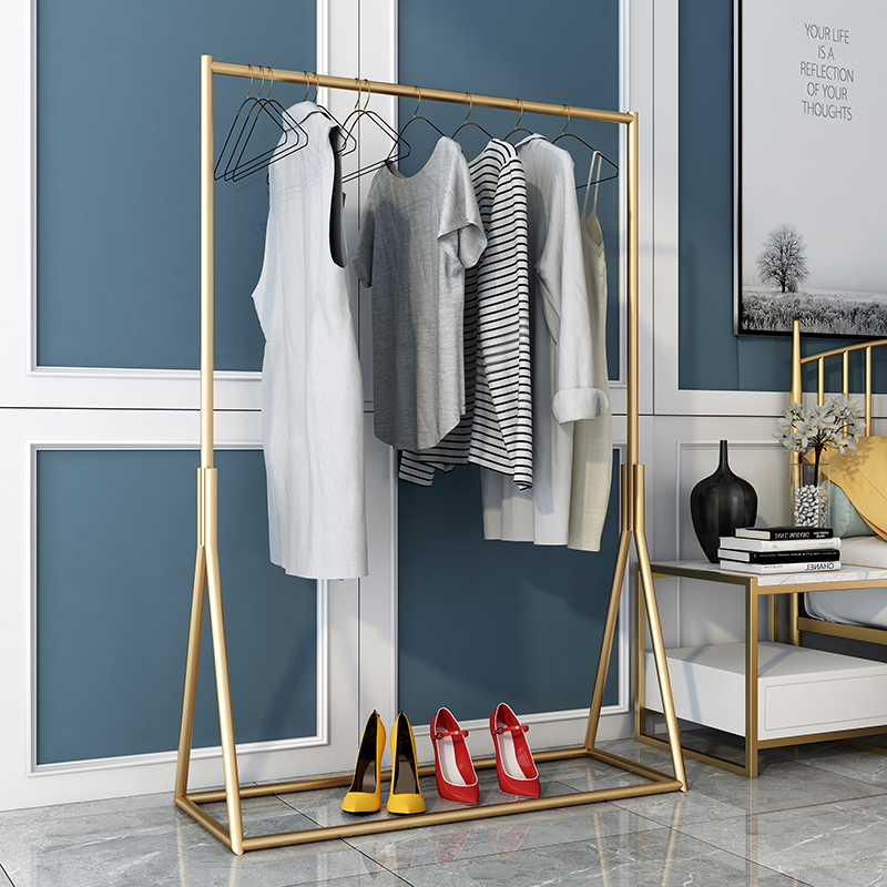 Clothes Hanger Coat Rack Floor Hanger Storage Wardrobe Clothing Drying Racks Hanger Simple Clothes Hanging Rack