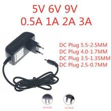 Dc 5 v 6v 9v 0.5a 0.8a 1a 2a 2.5a 3a ac 100-240v conversor adaptador de alimentação 5 v volt 1000ma interruptor fonte de alimentação